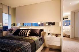ApartmentsWonderful Bedroom Apartment Design Ideas With Striped Colorful Bedsheet And Simple Modern White Nightstand