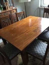 esstisch mahagoni antik mit 8 stühlen 130x90 cm mit auszug