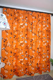 Amazon Curtains Living Room by Curtains For The Living Room Orange Base With Black Birds Print