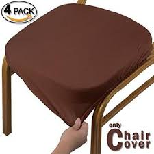 Voilamart Chair Seat Covers Stretchable Dining Cover Slipcovers Soft Protectors For Room Patio Office