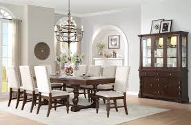 Amazon.com - County Cottage Dark Brown Dining Table Set ...