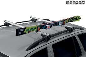 porte skis sur barres de toit 1 paire de ski