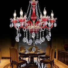 kristall kronleuchter kerzen design in lila oder rot für
