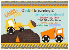 100 Truck Birthday Invitations Sample Vintage Construction Themed