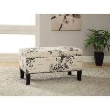 Linon Home Decor Stephanie Black Storage Ottoman BOT01U The