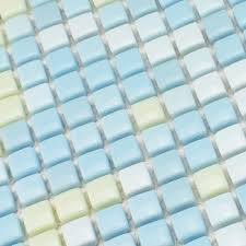 Get Quotations Light Blue Color Mini 12x12mm Full Body Ceramic Mosaic Tiles For Bathroom Shower Wall Children