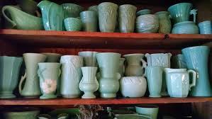 Windmill Farm McCoy Weller USA Pottery Vases