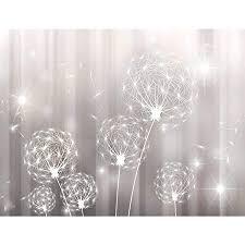 fototapete blumen pusteblume 352 x 250 cm vlies tapeten wandtapete moderne wanddeko wohnzimmer schlafzimmer büro flur schwarz weiss 9397011c