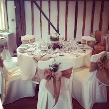 Shabby Chic Wedding Decorations Hire by Rustic Chair Covers Sashes Table Runners And Centrepiece For Www