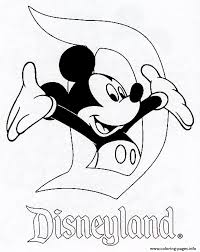 Mickey In Disneyland Disney 120e8 Coloring Pages Print Download 473 Prints 2016 01 04 Mouse