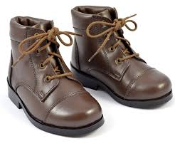 paradise lifestyle children brown lace up boots style 5002