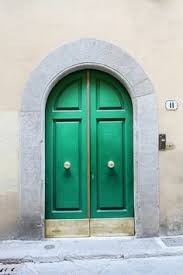 Ornate Green Marble Door in Rome Italy graph Wall Art