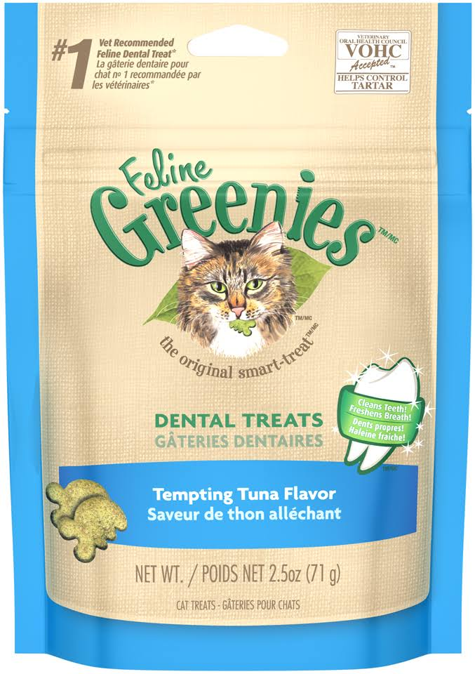 Feline Greenies Dental Cat Treats - Tempting Tuna, 2.5oz