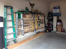 Pallets Used For Garage Tool Storage The Home