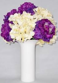 Artificial Flower Arrangement Purple Anemones White Dogwood