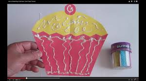 How To Make Easy CupCakes Color Paper Tutorial