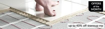 how to install in floor heating tile laying underfloor