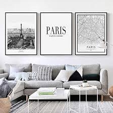 fvfbd nordic poster schwarz weiß landschaft leinwand malerei stadtplan zitate wandkunst druck wandbild für wohnzimmer home decor keine gerahmten