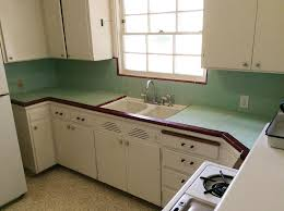 Carolyns Kitchen Looks Pretty Adorable In These Photos But She Told Us That 60 Year Old Tile Countertop Has Twisted Cracked And The Wood Underneath