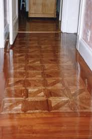Canteberry Pattern Parquet Antique Heart Pine Border Stained Sedona Red