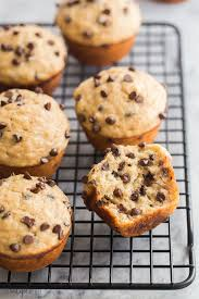 chocolate chip banana muffins gesünder einfaches