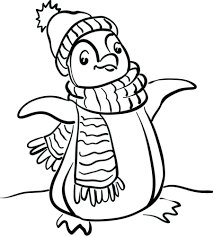 Winter Coloring Pages For Adults Sheets Crayola Penguin First Grade