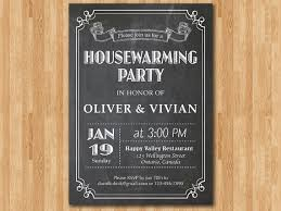 Housewarming Invitation Chalkborad New House Invite Black