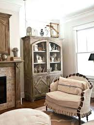 Living Room Corner Cabinet Ideas by Gorgeous Living Room Hutch Corner Cabinet In Chestnut Dining Room