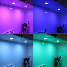 rgb led puck lights led bar 12v cabinet lighting kit for