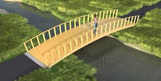 how to build a wooden bridge with arch plans diy free download