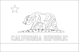 California Flag Coloring Page Inside Pages