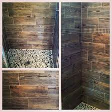 wood ceramic tile shower amazing tile