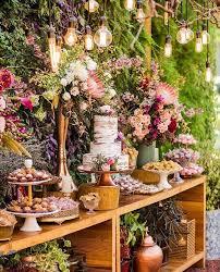 Desert Bar Table Wedding Dessert Tables Centerpieces Decor Ideas Forest Candy Buffet Food Bars