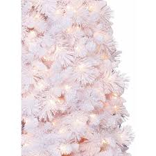 Snowy Dunhill Christmas Trees by Artificial Christmas Tree Pre Lit 7 5 U0027 Lenox Pine Clear Lights