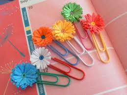 Fringed Flowers On Paper Clips