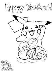 Pikachu Easter Coloring Page