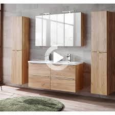 badmöbel set mit doppel keramikbecken und 2 spiegelschränken