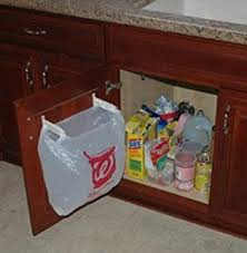 Under Cabinet Trash Can Holder by Amazon Com Door Mounted Kitchen Garbage Can Home U0026 Kitchen