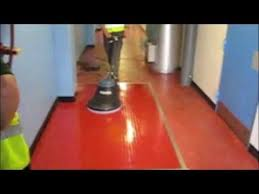 Burnishing Floors After Waxing by Stripping Sealing And Uhs Burnishing Rubber Floor Youtube