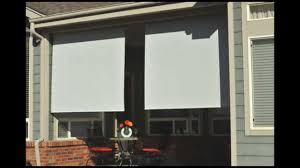 Vinyl Roll Up Patio Shades by Roll Up Solar Shades Youtube