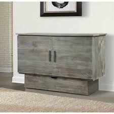 Gray Murphy Bed Cabinet