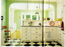 Kitchen Decor Themes Minimalist Green Theme With Classy White Countertop And Exotic Cabinets Black Pattern Floor Vintage