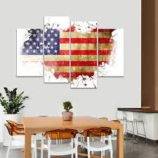 United States America Multi Panel Canvas Wall Art