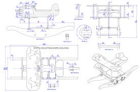 rocking airplane kids toy plan