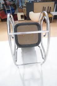 100 Rocking Chair Wheelchair MODERNIST CHROME TUBE ROCKER ROCKING CHAIR BLACK