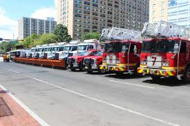 100 New Fire Trucks S MAYOR BARAKA AND PUBLIC SAFETY DIRECTOR AMBROSE UNVEIL NEW