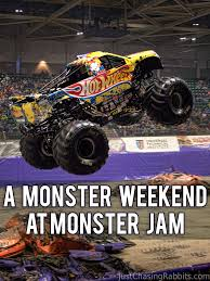 100 Team Hot Wheels Monster Truck Firestorm Taking Flight At Jam Last Weekend