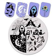 U20ac 052 43 De DESCUENTOBeautyBigBang Uñas De Placas De La Araña De Halloween Del Cráneo De Bruja De Imagen De Uñas Arte Plantilla Para Uñas BBB XL