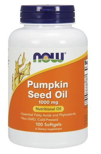 Now Foods Pumpkin Seed Oil - 1000mg, 100 Softgels