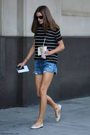 style watch how celebrities wear denim shorts for summer style
